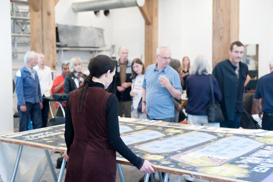 Studio talk with Molly Haslund at The Danish Art Workshops. Photo: Christian Brems.