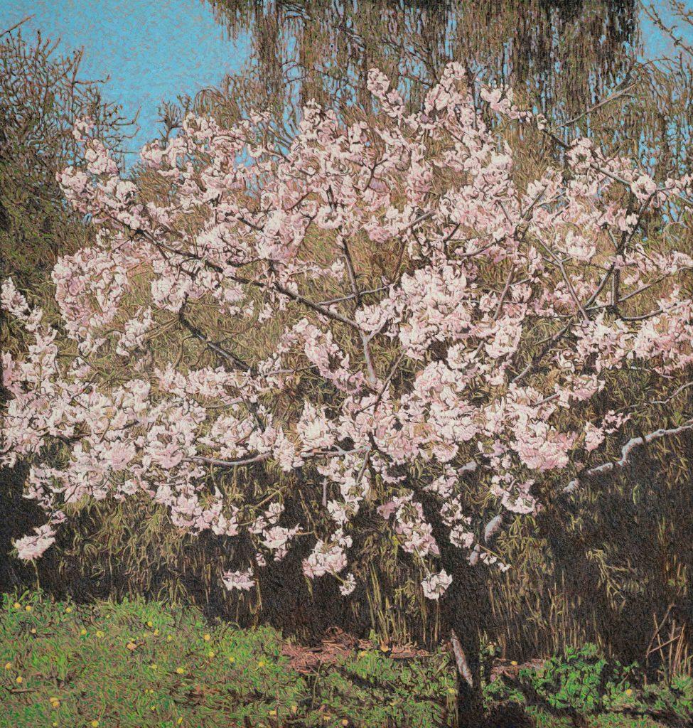 Tom Christoffersen - Allegro, oil on Canvas, 180x190 cm, 2021