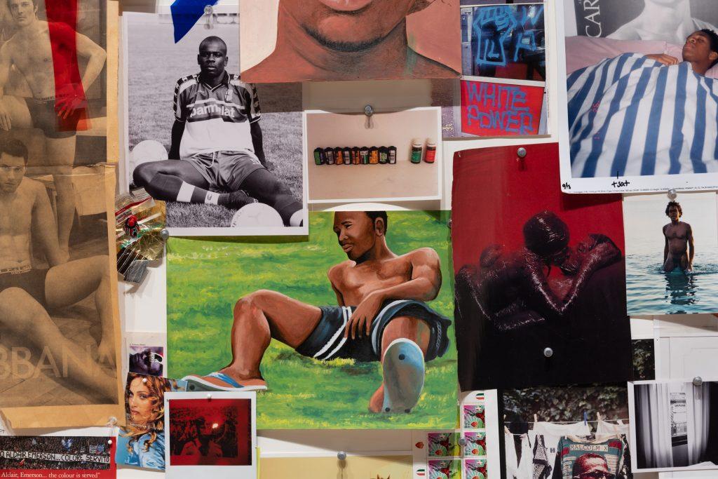 Lyle Ashton Harris. Detalje fra Appunti per l'Afro Barocco, 2015. Art of Sport, Copenhagen Contemporary, 2021. Foto: David Stjernholm.
